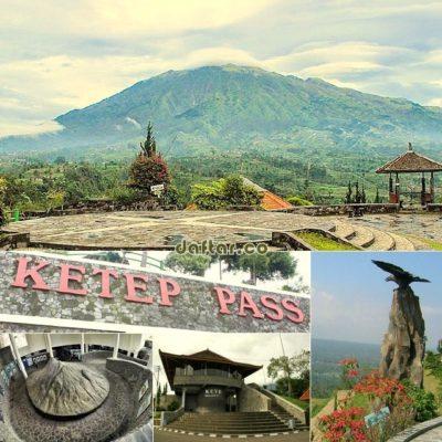 Gambar Pemandangan Gunung Merapi, Merbabu di Ketep Pass